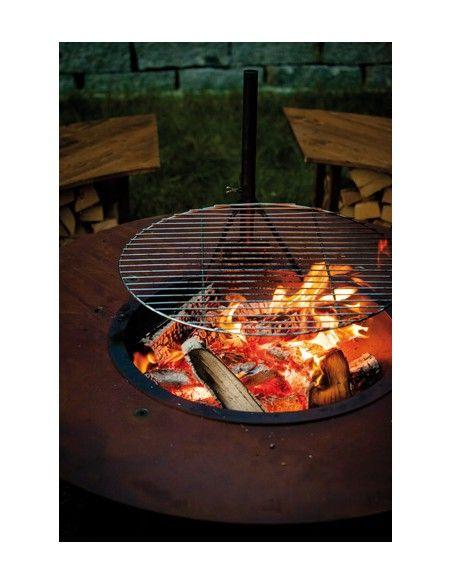 Grillstellen + große Gartengrills - Circle-Set - Grillrost zum Nachrüsten Grillrost in Edelrost Durchmesser: 65cm Stabiler Sch
