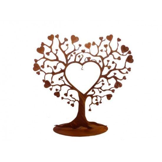Start Herzbaum aus Metall mit vielen Herzen 50 cm hoch