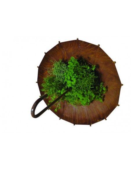 Deko Schirm aus Metall Ø 80 cm zum Bepflanzen  dieser tolle Dekoschirm ist eine besonders große Deko Idee für einen Ba