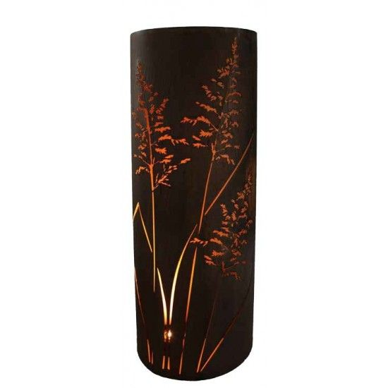 Mandelförmige Säulen Gras Säule 160 cm hoch halbrund 65 cm traumhaft schöne halbrunde Säule mit Gräßermotiv Höhe 165 cm Breite