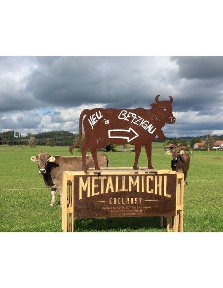 Kühe und Kälber Deko Kuh lebensgroß 140 x 200 cm - Tierfigur für den Garten Diese handwerklich gefertigte Deko Kuh ist eine lebe