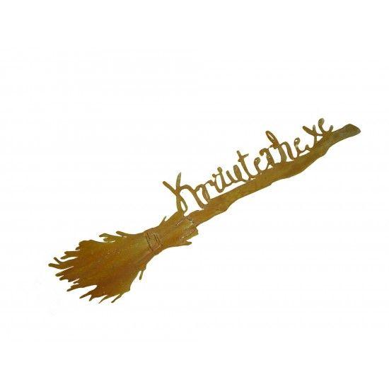 Hexen, Elfen, Drachen und Mystisches Besen - Kräuterhexe - zum Hängen 115 cm lang  Länge: 100 cm