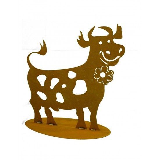 lustige Deko Kuh 60 cm hoch -...