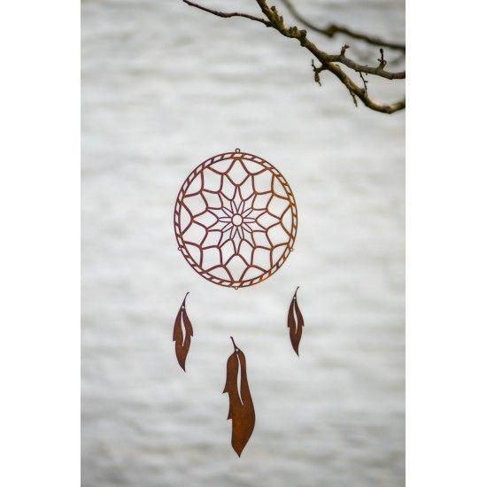 Bastelsatz Traumfänger Metall für den Garten - zum selber fädeln  Windspiel Traumfänger ø 20cm Blätter sind 12 / 18 cm