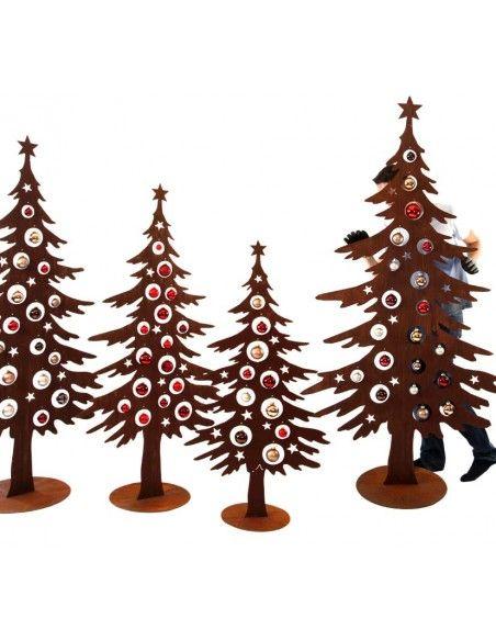 Weihnachtsbaum Metall und Edelrost Dekotanne 125 cm hoch für Christbaumkugeln - Weihnachtsbaum Metall Sie können den Metall Weih