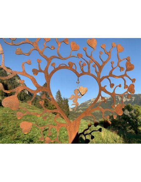 Herzige Dinge - Edelrost Dekoherzen Herzbaum aus Metall mit vielen Herzen 50 cm hoch An diesem Herzbaum kannst du eine Herzensan