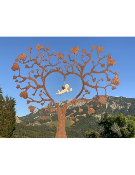 Deko Herz als Herzbaum aus Metall mit vielen Herzen 50 cm hoch An diesem Herzbaum kannst du eine Herzensan