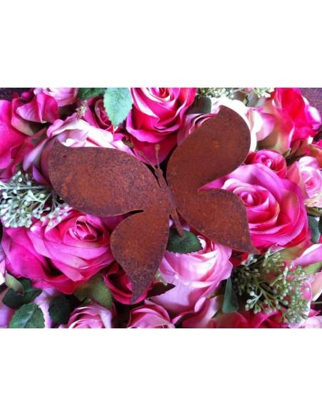 Bastelideen mit Metall und Rost Edelrost Schmetterling zum Aufhängen 10 x 11 cm Höhe 10 cm Breite 11 cm inkl. Loch zum Aufhäng