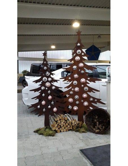 Weihnachtsbaum Metall und Edelrost Dekotanne 175 cm hoch für Christbaumkugeln - Weihnachtsbaum aus Metall Höhe 175 cm Breite 92