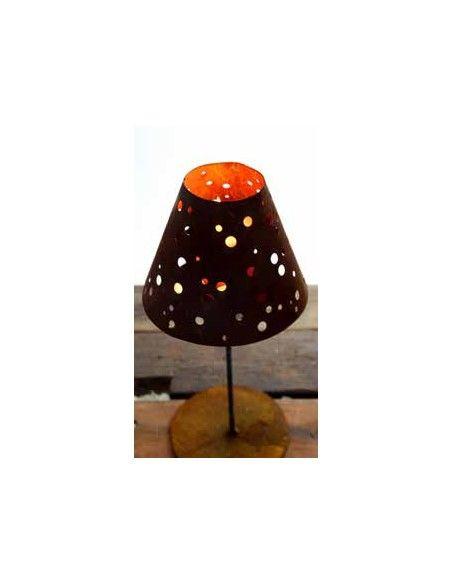 Kerzenhalter Windlicht - Dots - nostalgischer Lampenschirm zum Stellen auf Platte  Durchmesser ca. 20 cm Höhe variert zwischen