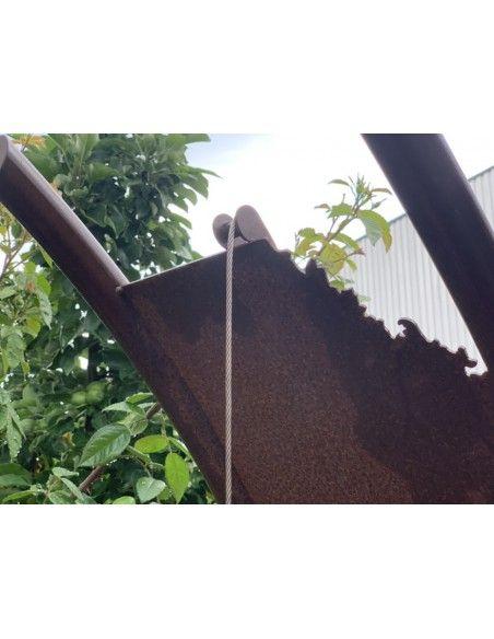 Grillstellen + große Gartengrills Exklusiver Schwenk-Grill -Texas- 2,1 Meter hoch mit Kettenführung inkl. Rost Dieser Schwenkgri