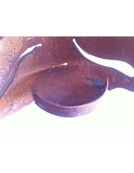 Wandfackel zum Anschrauben - Wanddeko mit Blattmotiv