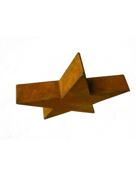 Sonderformen Säulen Rost Stern Moses 100 cm Ø - geschlossen  Ø 100cm, Tiefe 16cm 1 Meter Groß! sehr massiv wirkender Edelrost