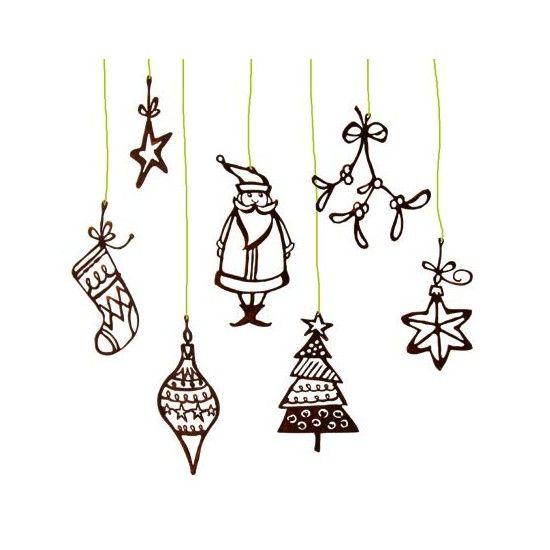 Weihnachtsbaumschmuck und Christbaumschmuck Lustige Edelrost-Weihnachtsanhänger 7er Set, Höhe 15-23 cm - Weihnachtsbaumschmuck 7
