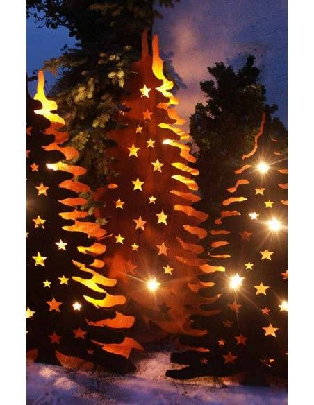 XXL Bäume ab 120 cm Doppelter Christbaum mit Zwischenböden für Teelichter  Höhe 120 cm