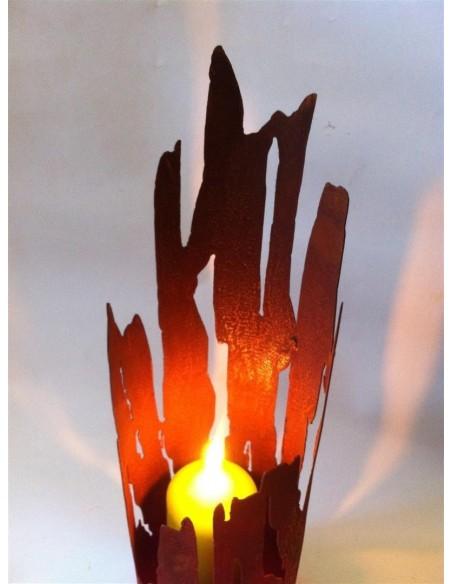 Windlicht Treibholz -groß 60 cm - Edelrost Windlicht
