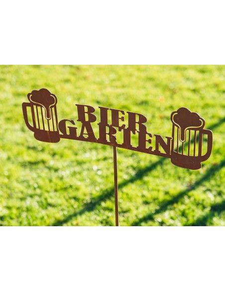 Metall Gartenstecker - Biergarten - Breite 50 cm