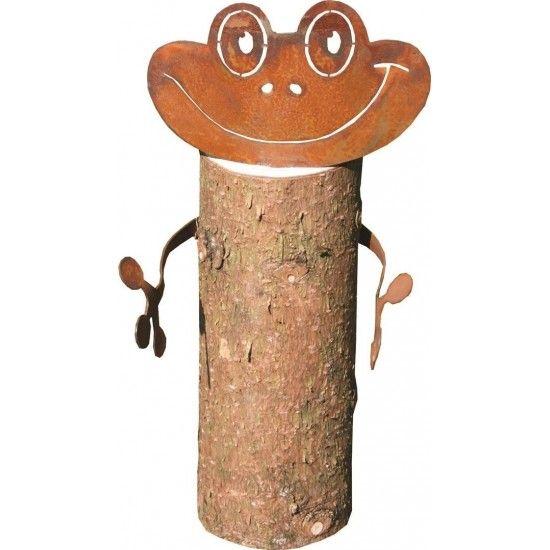 Gartenteich Metallsatz Frosch für Holzstamm - Deko Frosch selber basteln Metallsatz bestehend aus Kopf 13,5cm x 11,5cm Arme 32