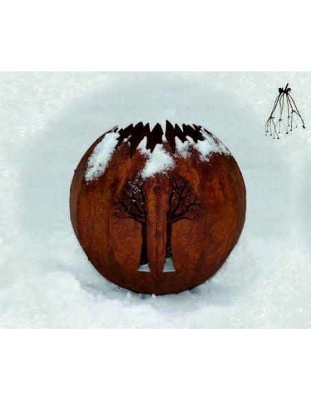 Kugelleuchten Garten Kugelleuchte Baum - Ø45cm - Große Gartendeko Kugel mit Lebensbaum  Ø 45 cm ohne Elektrosatz für Außenbele