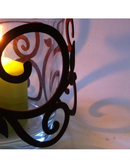 Weihnachtsdeko Aussen Edelrost Ornamentring für Vasen / Windlicht Ø 15 cm Höhe 13 cm Barock Deko Diese Ornamentringe machen sich