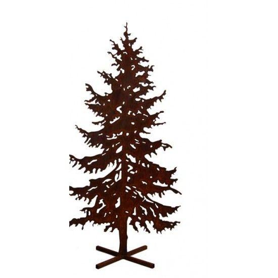XXL Bäume ab 120 cm Metall Tannenbaum 200 cm hoch mit Rohr rückseitig  Diese großen Tannenbäume aum Metall sind aus 3mm Stahl