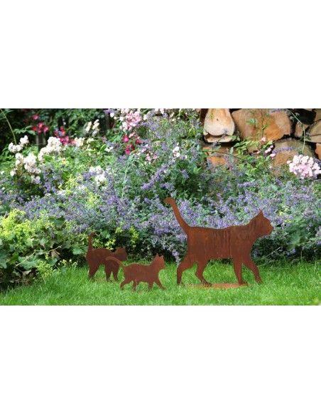 Beetstecker für Frühling und Sommer Stecker Katzenkind - tapsend  Größe ca. 25 x 20 cm mit kurzem Stab zum Stecken