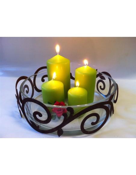 flacher Ornamentring für Vasen / Windlicht Ø 25 cm Höhe 9,3 cm