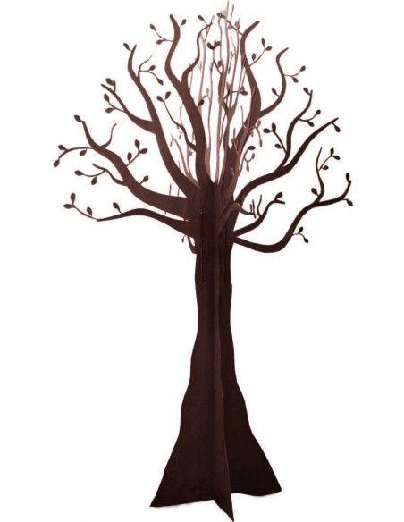 Sonderformen Säulen knorriger Rost Baum 300 cm hoch H 300cm, Ø ca. 200cm, zerlegbar. Inkl. 4x Bodenhaken 40cm. Baum muss zwin