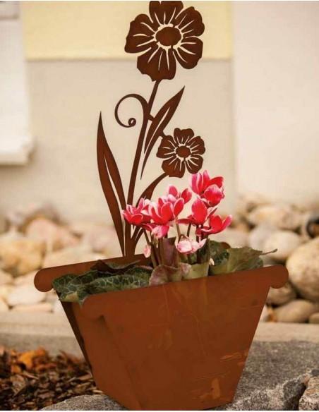Blumentopf aus Edelrost