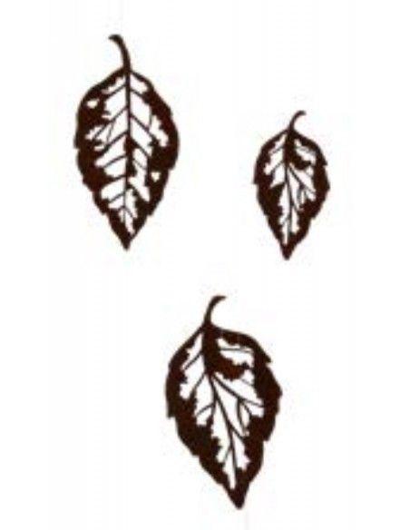 Deko Ketten  Blattskelett Set klein 10 Stück Höhe ca. 13cm - Herbstblatt zum Basteln  10 Blätter zum Dekorieren und Aufhängen o