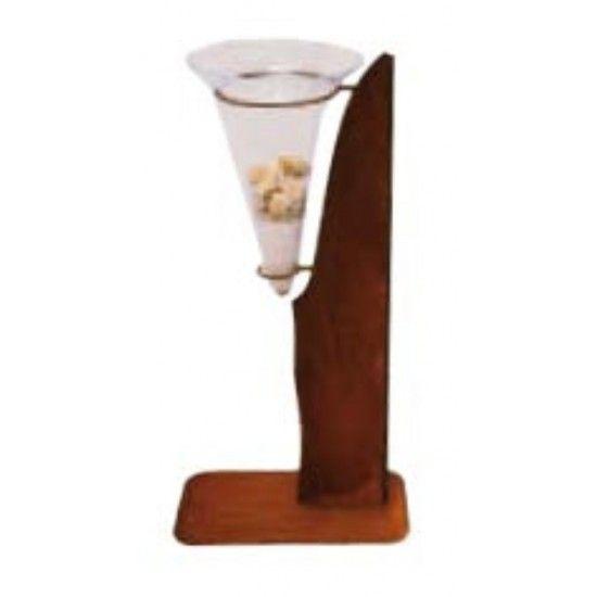 Glas Deko Rostständer mit großer Glasvase 50 x 25 x 100 cm   Ständer Design inklusive Glasvase Breite 50 cm Tiefe 25 cm Höh