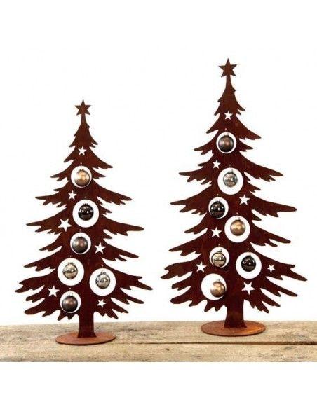 Weihnachtsbaum Metall und Edelrost Dekotanne 70 cm hoch für Christbaumkugeln - Metall Weihnachtsbaum Dieser Weihnachtsbaum Metal
