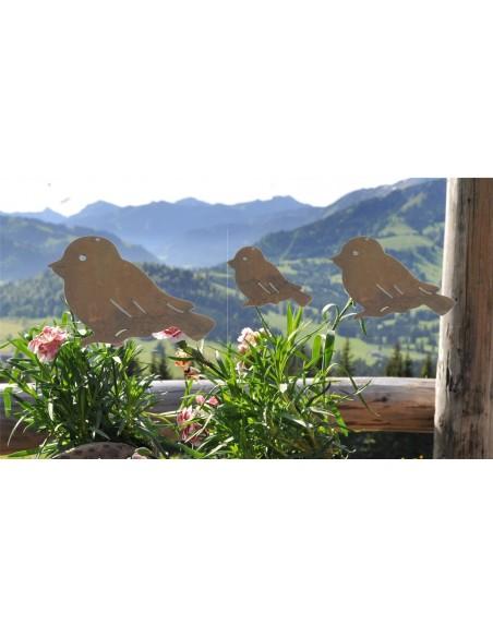 Fensterdeko Vogel Edelrost