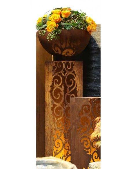 Rechteckige Säulen Rost Säule Venezia 1 m hoch 33,5 x 33,5 cm  sehr edle und stilvolle Rost Säule, rechteckig 1 m hoch, 33,5 x