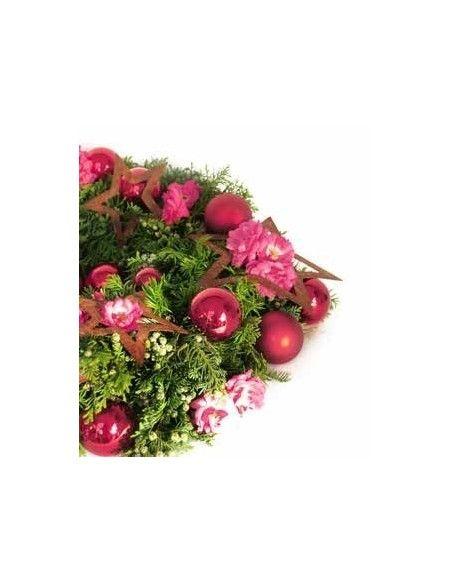 Weihnachtsbaumschmuck und Christbaumschmuck rostiger Stern offen - 12 cm Durchmesser - Weihnachtsbaumschmuck oder als Deko Stern