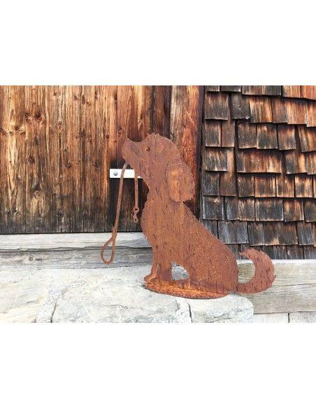 Deko Hunde Deko Hündchen Lucy mit Leine groß 50 cm hoch  Hündchen mit Leine wartet geduldig darauf mit dir Gassi zu gehen...