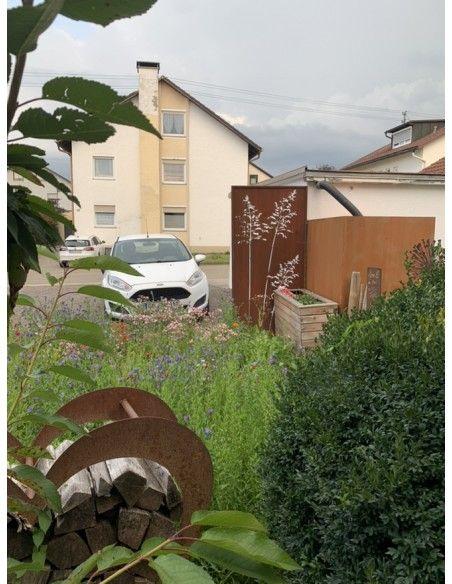 Sichtschutzwände und Paravents Sichtschutzwand Metall Gräser Motiv - 200 x 100 cm - Sichtschutzelement Rost     Diese Sichts