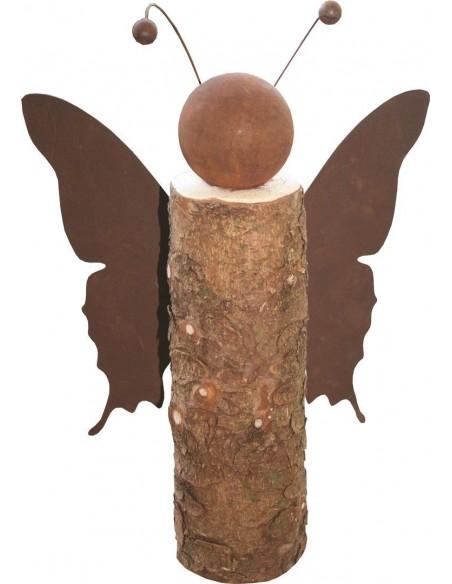Holz / Rost Kombinationen Rost Schmetterling auf Holzstamm Unser Schmetterling ist eine ausgefallene Holz-Rost Kombination für d