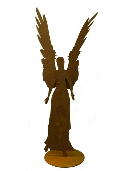 Engelfiguren kaufen und Engel Bastel-Ideen Rost Engel Celeste aus 3 mm Stahl, Höhe 87 cm  großer (87 cm) Edelrost Engel mit ang