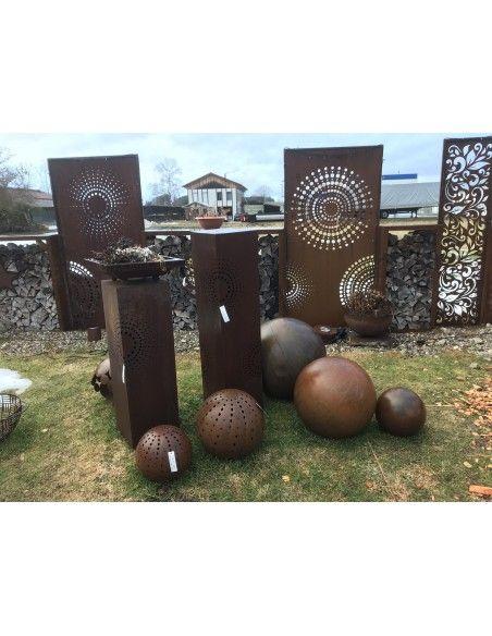 Sichtschutzwände und Paravents DOT 2 Sichtschutzwand mit Kreisen u. kleinen Punkten 200 cm hoch - moderne Gartendeko Das sind di