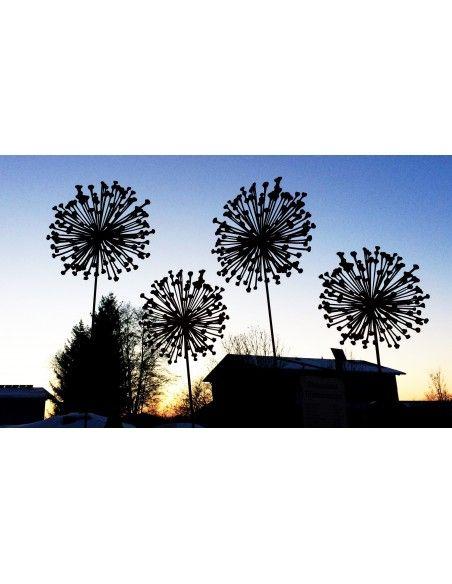 """Blumen und Bäume Blumen Gartenstecker Allium 30cm Durchmesser (flach) Gesamthöhe: 135 cm Gartenstecker Blume """"Allium"""" 30 cm Durc"""