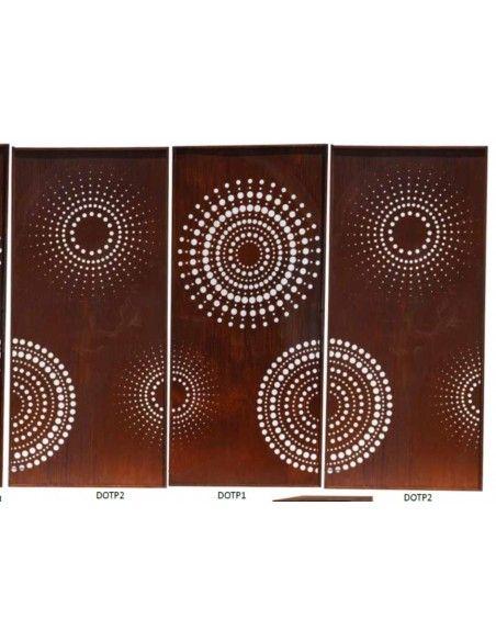 Sichtschutzwände und Paravents DOT Paravent 1 Sichtschutzwand mit Kreisen u. großen Punkten 200 cm hoch - moderner Sichtschutzza