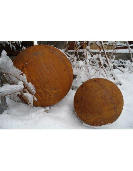 40 cm Kugeln Kugel Edelrost 40 cm Durchmesser  Massive Edelrostkugel geschlossen Ø 40 Durchmesser mit einer speziellen Drückm