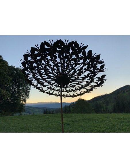 Schmetterlinge große Schmetterlingsblume Ø 65 cm - Gartenstecker aus vielen Schmetterlingen gefertigt  Diese anmutige Blume wur