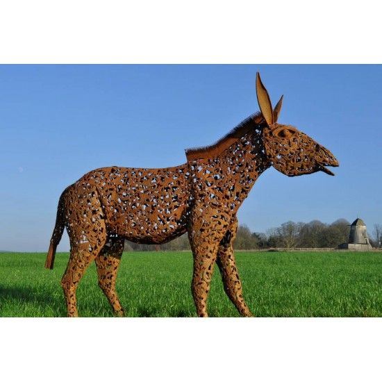 "Pferde + Esel XL Esel Skulptur  - Donkey-Stan - 210 cm lang  Diese Gartenfigur XL ist beinahe Lebensgroß Der Esel ""Donkeystan"""