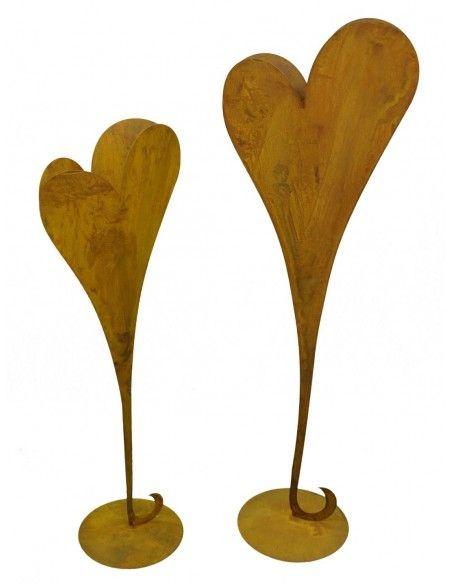 Herzige Dinge - Edelrost Dekoherzen Edelrost Herzständer zum Bepflanzen auf Platte 112 cm hoch - Pflanzherz  Dieses schöne Pfla