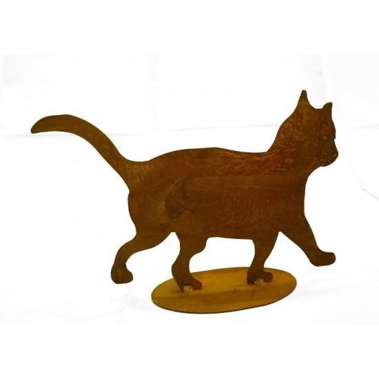"""Rost Katzenkind """"tapsend"""" Deko Katzen und Mäuse Größe ca. 25 x 20 cm. mit Bodenplatte."""