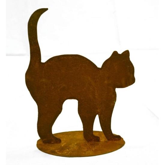 Rost Katzenkind mit Buckel Deko Katzen und Mäuse Niedliches Katzenbaby, das sich vor