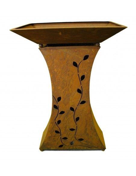 Pflanzsäulen - Säulen mit Pflanz-Schale Set: Säule Blatt groß mit Schale       Gesamthöhe mit Schale 109 cm   lässt sic