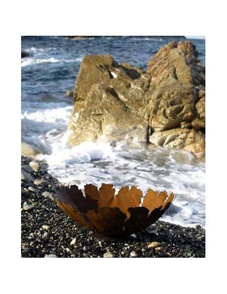Pflanzgefäße + Schalen + Kronen Dekoschale mit Rissen auf Platte 35 cm Durchmesser Außergewöhnliche Dekoschale die Du bepflanzen